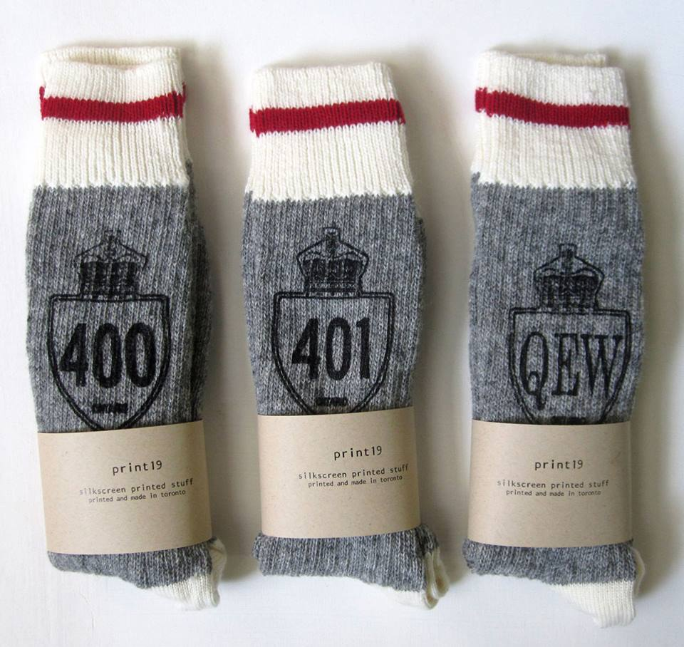 Keeping it local with these cozy highway socks from http://www.yasminelouis.com/print19/highwaysocks