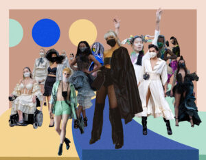 Collage of runway looks from Fashion Art Toronto
