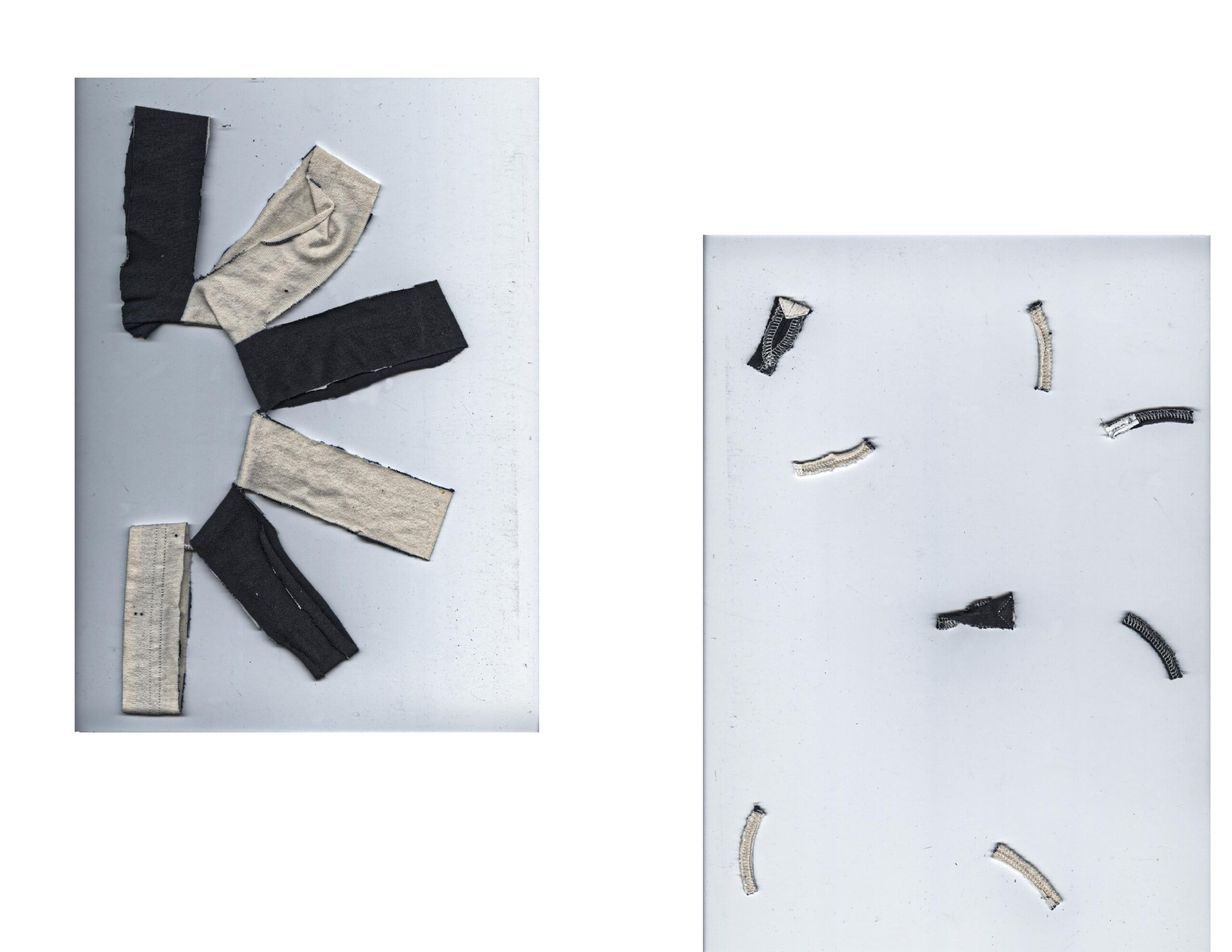 Deconstructed t-shirt - Fragments - by Tricia Crivellaro